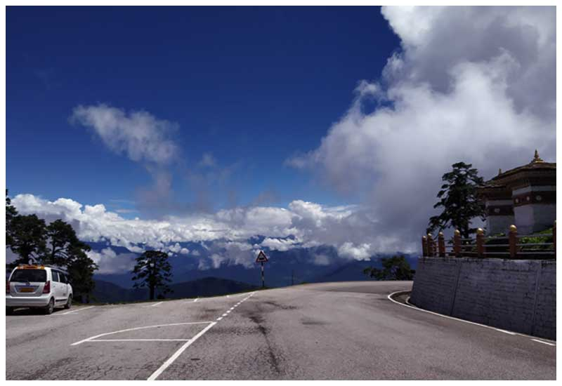 bhutan honeymoon trip- dochula pass top attraction of bhutan