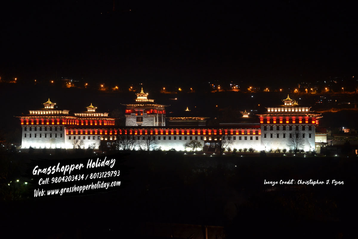 Tashichho Dzong thimphu - bhutan tours packages