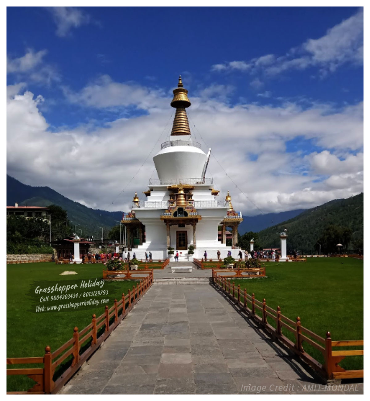 National Memorial Chorten - Top attraction of thimphu - Bhutan package tour