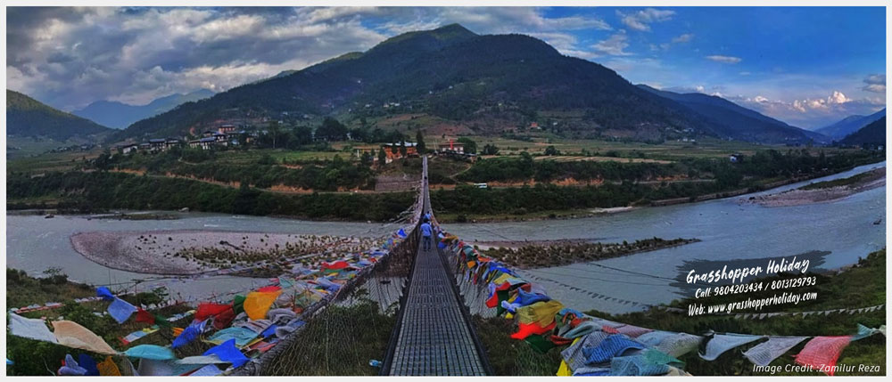 Punakha Suspension Bridge- top attraction of bhutan
