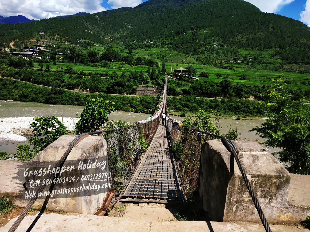 punakha-suspension-bridge -Top attractions of bhutan